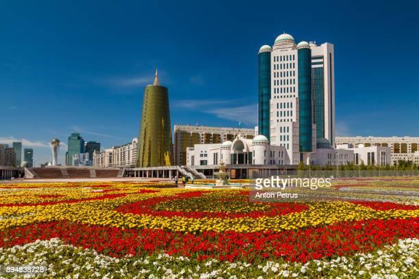 kazakhstan, astana city, new administrative city, nurzhol avenue parlament - anton petrus stock pictures, royalty-free photos & images