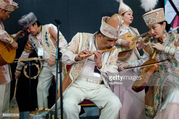Kazakhstan musicians pictured during to promote the upcoming event 'Kuala Lumpur 2017 International Drum and Dance Festival ' which is will be held...