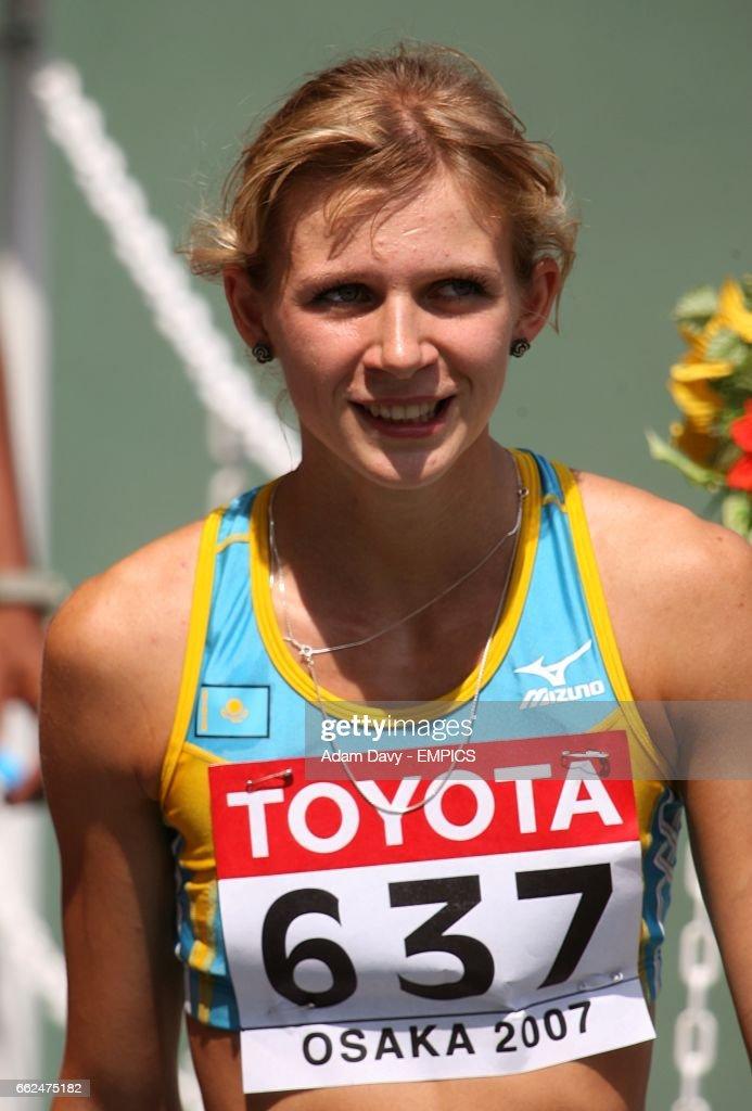 Kazakhstan's Anastasiya Vinogradova during qualifying for the Women's 100m.