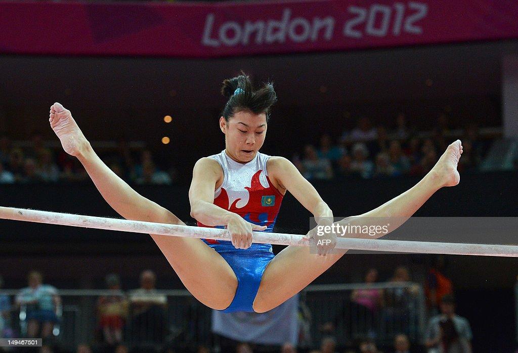 Kazakhstan's gymnast Moldir Azimbay perf : News Photo