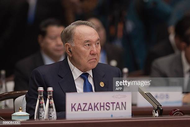 Kazakhstan's President Nursultan Nazarbayev attends the opening ceremony of the G20 Summit at the International Expo Center in Hangzhou on September...