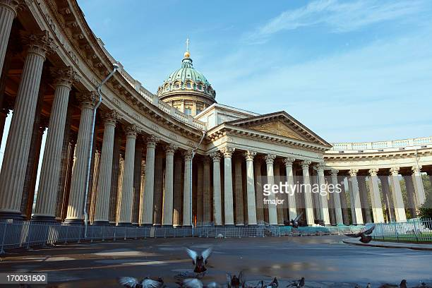 kazan cathedral - st. petersburg russia stock photos and pictures
