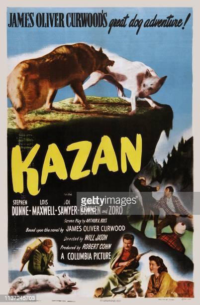 Kazan, poster, US poster art, bottom from left: Joe Sawyer, Stephen Dunne, Lois Maxwell, 1949.