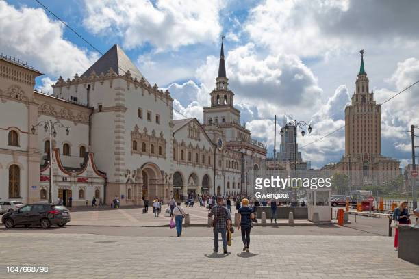 kazansky railway terminal in moscow - gwengoat stock pictures, royalty-free photos & images