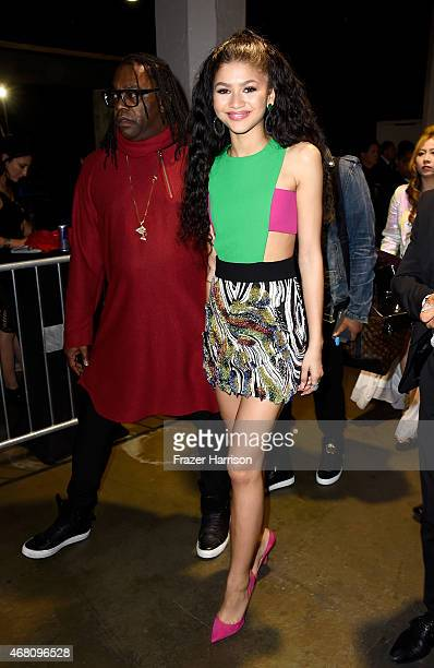Kazembe Ajamu Coleman and actress/signer Zendaya attend the 2015 iHeartRadio Music Awards which broadcasted live on NBC from The Shrine Auditorium on...