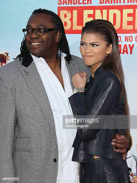 Kazembe Ajamu Coleman and daughter singer Zendaya attend the Los Angeles premiere of Blended at the TCL Chinese Theatre on May 21 2014 in Hollywood...