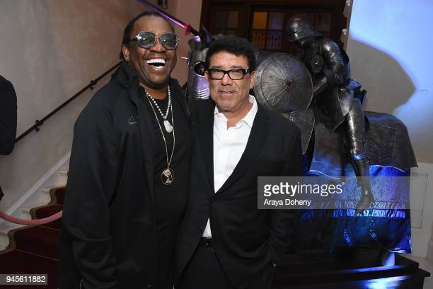 Kazembe Ajamu Coleman and Victorino Noval attend John Travolta Victorino Noval Honor Oscar Generale and the Cast of Moose Speed Kills on April 12...