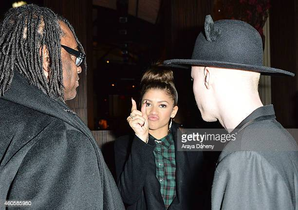 Kazembe Ajamu Coleman Zendaya and Shaun Ross attend the Bera Tarap private birthday dinner party at Beso on December 16 2014 in Hollywood California
