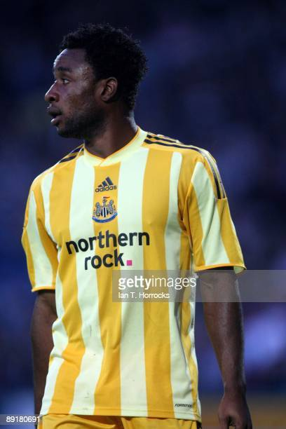 Kazenga Lua Lua in action during a preseason friendly match between Huddersfield Town and Newcastle United at the Galpharm Stadium on July 21 2009 in...