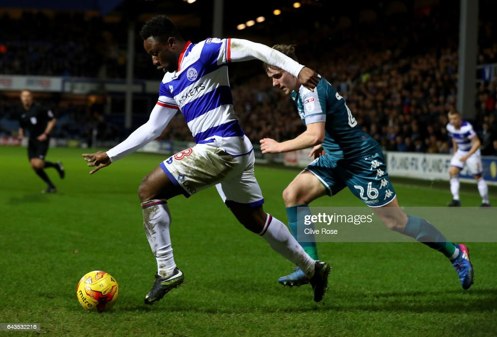 Kazenga LuaLua of Queens Park Rangers during the Sky Bet Championship match between Queens Park Rangers and Wigan Athletic at Loftus Road on February 21, 2017 in London, England.