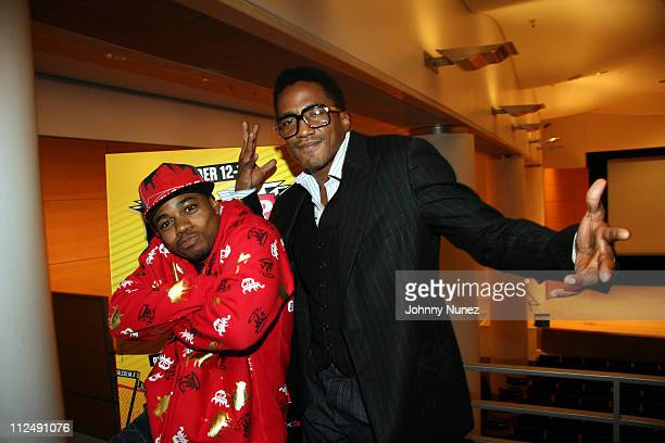 Kazi and QTip during VH1 Screening of The Hip Hop Project at Brooklyn Museum of Art in Brooklyn New York United States