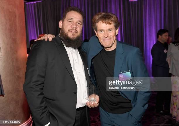 Kazik Suwala and Willem Dafoe attend the 91st Oscars Nominees Luncheon at The Beverly Hilton Hotel on February 04 2019 in Beverly Hills California