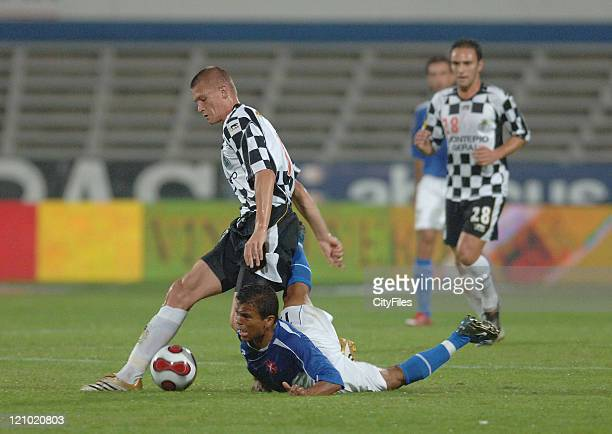 Kazmierczak and Roma in action at a Portuguese Soccer League match between Belenenses and Boavista in Lisbon Potugal on October 1 2006
