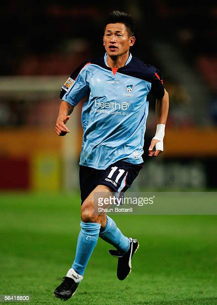 Kazu Miura of Sydney in action during the FIFA Club World Championship Toyota Cup 2005 match between Sydney FC and Deportivo Saprissa at The Toyota...