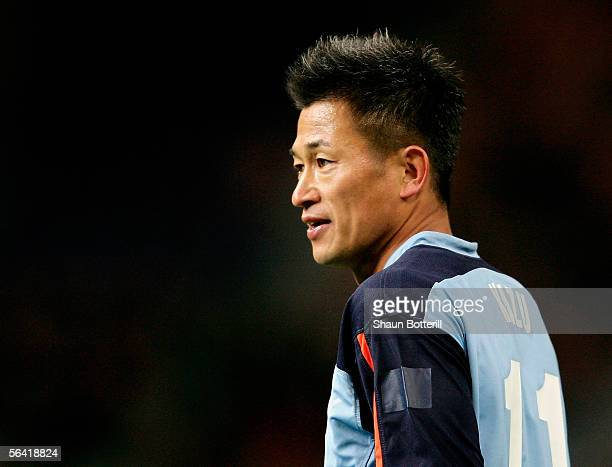 Kazu Miura of Sydney looks on during the FIFA Club World Championship Toyota Cup 2005 match between Sydney FC and Deportivo Saprissa at The Toyota...