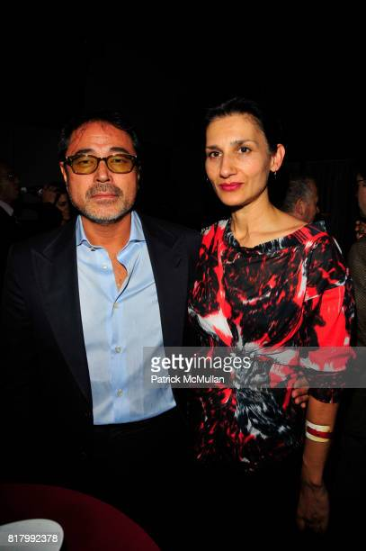 Kazu Yoshi and Louise Meri attend Taryn Simon: Contraband Curated by Richard Marshall at Lever House Art Collection and Casa Lever Restaurant NYC on...