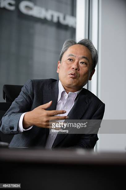 Kazuhiko Toyama chief executive officer of Industrial Growth Platform Inc speaks during an interview in Tokyo Japan on Wednesday Sept 9 2015 Toyama...