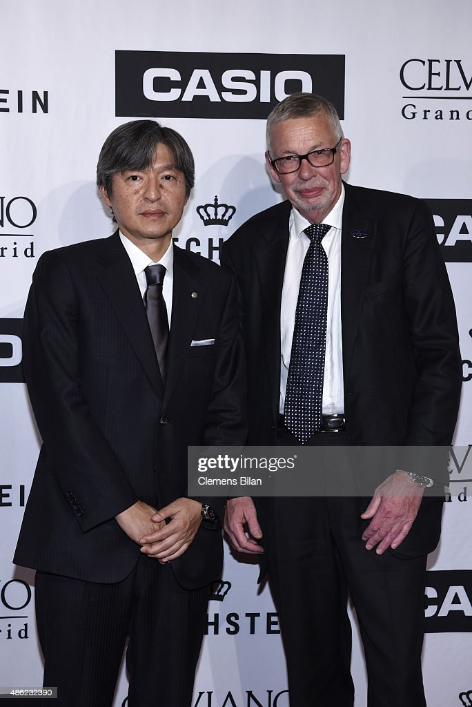 premium selection c2c74 ea98e Kazuhiro Kashio , President and COO, CASIO, and Karl Schulze ...