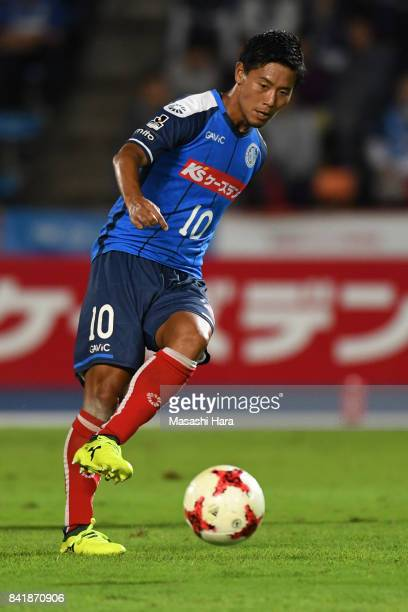Kazuhiro Sato of Mito Hollyhock in action during the JLeague J2 match between Mito Hollyhock and Nagoya Grampus at K's Denki Stadium on September 2...