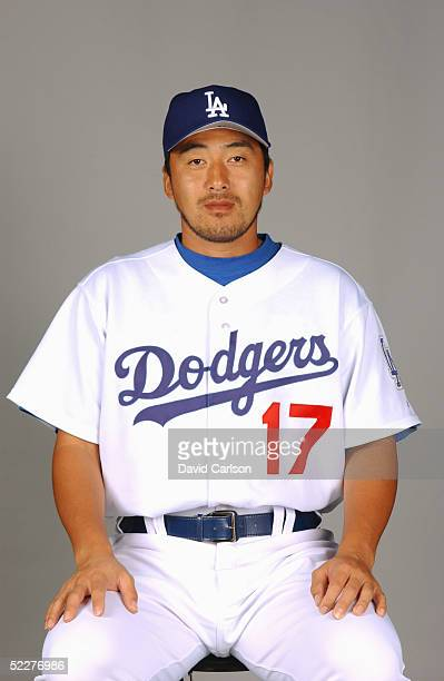 Kazuhisa Ishii of the Los Angeles Dodgers poses for a portrait during photo day at Holman Stadium on February 27, 2005 in Vero Beach, Florida.