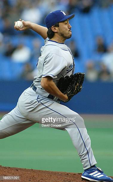 Kazuhisa Ishii pitching against the Jays tonightThe Toronto Blue Jays vs the Los Angles Dodgers at SkyDome Thursday night