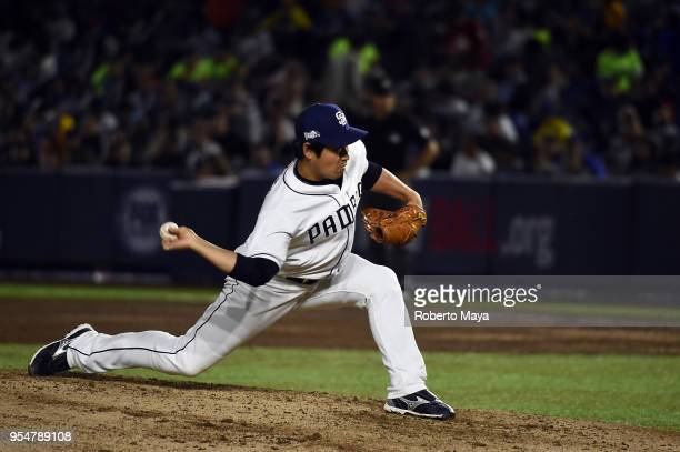 Kazuhisa Makita of the San Diego Padres pitches during the game against the Los Angeles Dodgers at Estadio de Béisbol Monterrey on Friday May 4 2018...