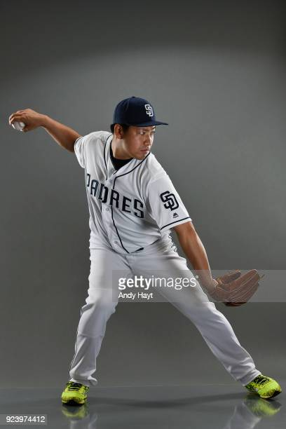 Kazuhisa Makita of the San Diego Padres poses for a portrait at the Peoria Sports Complex on February 21 2018 in Peoria Arizona