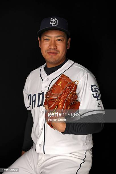 Kazuhisa Makita of the San Diego Padres poses on photo day during MLB Spring Training at Peoria Sports Complex on February 21 2018 in Peoria Arizona