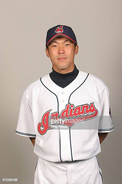 Kazuhito Tadano of the Cleveland Indians during photo day at Chain of Lakes Park on February 28 2006 in Winter Haven Florida