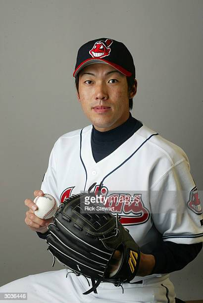 Kazuhito Tadano of the Cleveland Indians poses during Photo Day on March 2 2004 at Chain O' Lakes Park in Winter Haven Florida