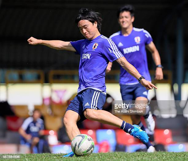 Kazuki Anzai of Japan in action during the training session on March 28, 2015 in Subang Jaya, Malaysia.