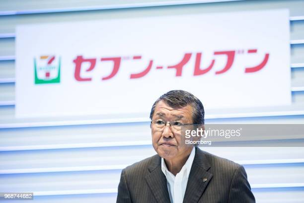 Kazuki Furuya president of SevenEleven Japan Co attends a joint news conference with Toyota Motor Co in Tokyo Japan on Wednesday June 6 2018 Toyota...