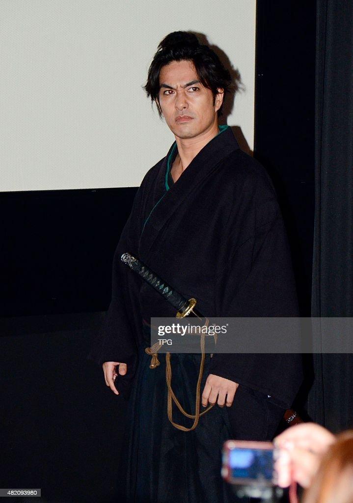 Kazuki Kitamura promotes his new movie Samurai Cat on 26th July, 2015 in Taipei, Taiwan, China.