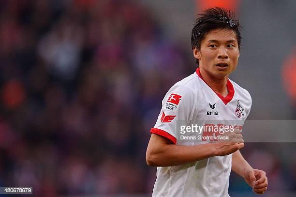 Kazuki Nagasawa of 1 FC Koeln looks on during the Second Bundesliga match between 1 FC Koeln and Karlsruher SC at RheinEnergieStadion on March 26...