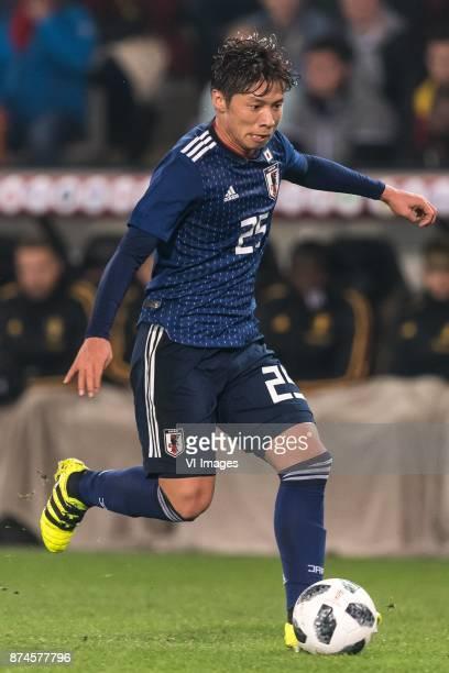 Kazuki Nagasawa of Japan during the friendly match between Belgium and Japan on November 14 2017 at the Jan Breydel stadium in Bruges Belgium