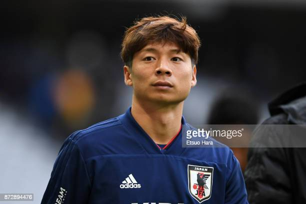 Kazuki Nagasawa of Japan is seen after the international friendly match between Brazil and Japan at Stade PierreMauroy on November 10 2017 in Lille...