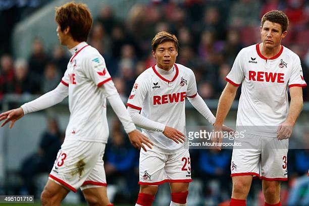 Kazuki Nagasawa of koeln looks on during the Bundesliga match between 1 FC Koeln and TSG 1899 Hoffenheim held at RheinEnergieStadion on October 31...