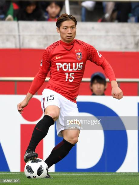 Kazuki Nagasawa of Urawa Red Diamonds in action during the JLeague J1 match between Urawa Red Diamonds and Yokohama FMarinos at Saitama Stadium on...
