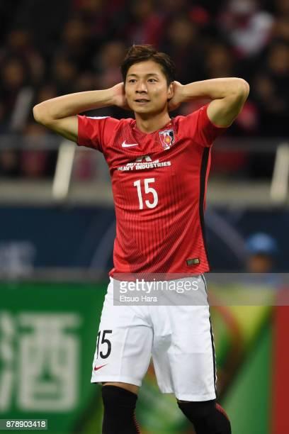 Kazuki Nagasawa of Urawa Red Diamonds reacts during the AFC Champions League Final second leg match between Urawa Red Diamonds and AlHilal at Saitama...