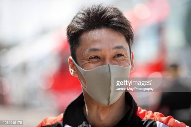 Kazuki Nakajima of Japan and Toyota Gazoo Racing at Autodromo di Monza on July 16, 2021 in Monza, Italy.