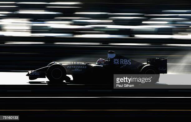 Kazuki Nakajima of Japan and Williams in action during Formula One testing at the Circuit Ricardo Tormo on January 31, 2007 in Valencia, Spain.