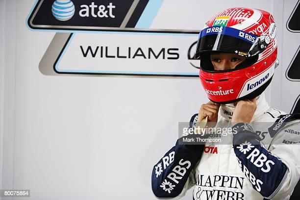 Kazuki Nakajima of Japan and Williams is seen during preseason Formula One winter testing at the Monteblanco Circuit on December 10 2007 in Seville...