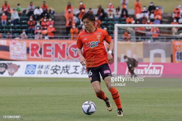 Kazuma TAKAI of Renofa Yamaguchi FC in action during the J.League Meiji Yasuda J2 match between Renofa Yamaguchi and Tochigi SC at Ishin Me-Life...