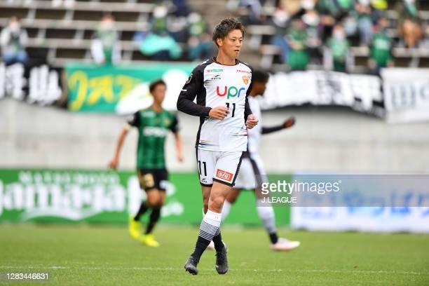Kazuma TAKAI of Renofa Yamaguchi looks on during the J.League Meiji Yasuda J2 match between Matsumoto Yamaga and Renofa Yamaguchi at Sunpro Alwin on...