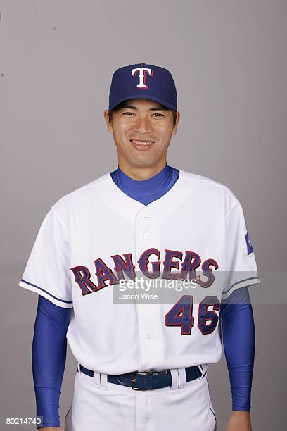 Kazuo Fukumori of the Texas Rangers poses for a portrait during photo day at Surprise Stadium on February 24 2008 in Surprise Arizona