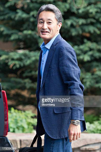 Kazuo Hirai chief executive officer of Sony Corp arrives at the Allen Co Media and Technology Conference in Sun Valley Idaho US on Tuesday July 9...