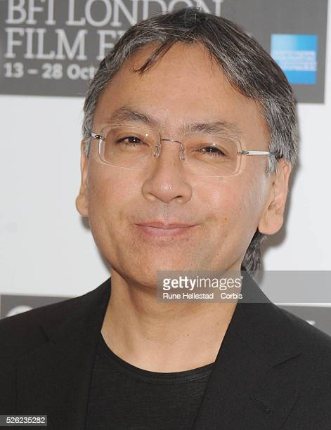Kazuo Ishiguro attends a photocall for 'Never Let Me Go' at Vue Leicester Square