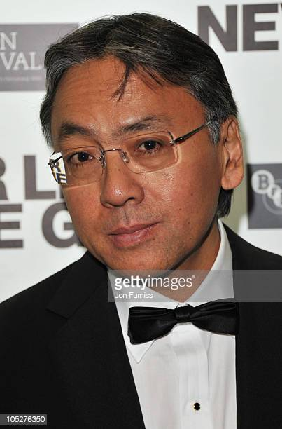 Kazuo Ishiguro attends the Never Let Me Go premiere during the 54th BFI London Film Festival after party at Saatchi Gallery on October 13 2010 in...