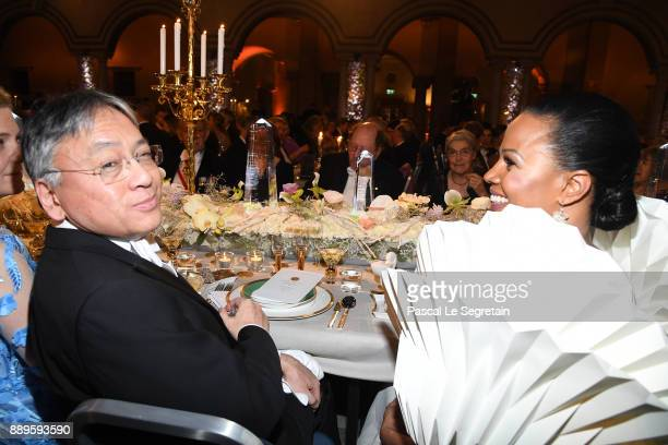 Kazuo Ishiguro laureate of the Nobel Prize in Literature and Swedish Minister for culture Alice Bah Kuhnke attend the Nobel Prize Banquet 2017 at...