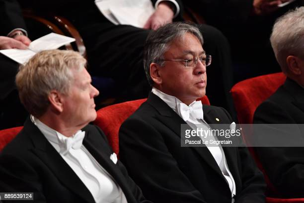 Kazuo Ishiguro laureate of the Nobel Prize in Literature attends the Nobel Prize Awards Ceremony at Concert Hall on December 10 2017 in Stockholm...